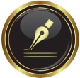 16855207-ink-pen-icon-on-black-with-gold-button-illustration