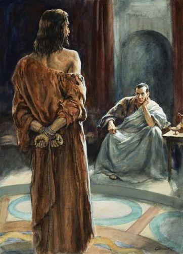 henry coller - christ in front of pontius pilate - (meisterdrucke-39351)