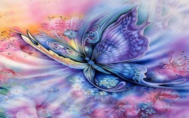 Blau Lila Schmetterling & Blumen Hintergrundbilder   Blau Lila in Hintergrundbilder Blumen Und Schmetterlinge