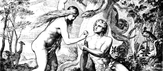Adam & Eve Eat Forbidden Fruit