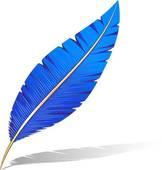 plume-bleue