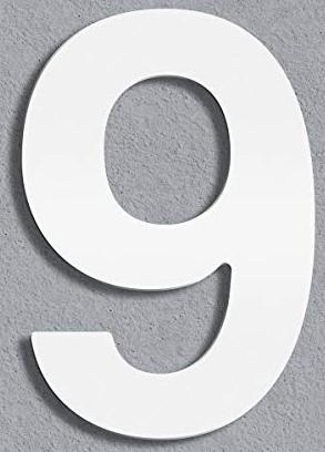 Thorwa(R)-moderne-Design-Edelstahl-Hausnummer-Helvetica,-weiss-pulverbeschichtet,-H.300mm,-RAL-9003-(9)-von-Thorwa-2375357199