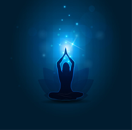 31486205-woman-yoga-and-meditation-beautiful-blue-abstract-background